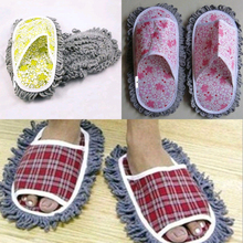 New Design 1 Pair Dust Mop Slipper House Cleaner Lazy Floor Dusting Cleaning Foot Shoe Cover For Bathroom Home Supplies(China)