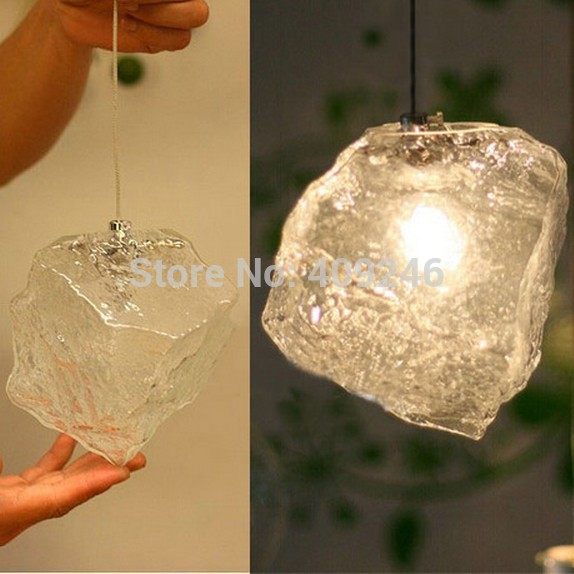 LOFT Ice Glass Industrial Vintage Ceiling lamp pendant light coffee shop Bar<br>
