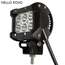 HELLO EOVO 4 Inch 18W LED Work Light Bar for Indicators Motorcycle Driving Offroad Boat Car Tractor Truck 4x4 SUV ATV 12V
