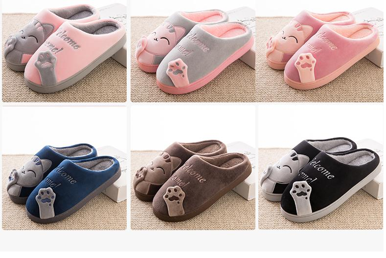 CUTE COZY CAT PAW SLIPPERS 8