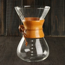 800ML Classic Glass Drip Pot Espresso Coffee Maker Chemex Style Pour Over Coffeemaker Coffee Machine Manually Coffee Drip