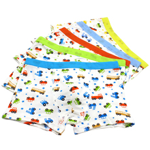5 Pcs/lot Boys Underwear Cartoon Car Pattern Children's Pants Modal Kids Boxer Underpants Briefs Baby Boys Underware For 2-11Y(China)