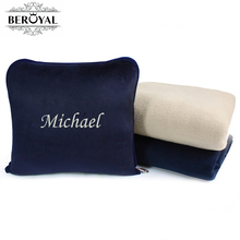 Personalized Super Soft Cover Blanket +Bags Cushion Pillow Korea Design EMBROIDERED Customized GIFTS High Quality