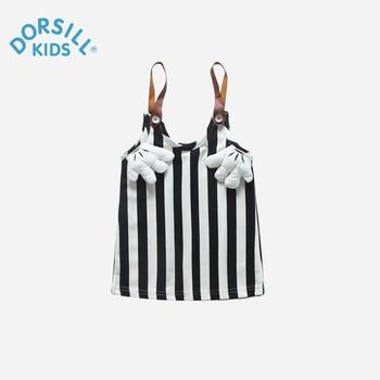 Dorsill Enfants de Robe Nouveau Printemps Mignon Sans Manches Enfants Vêtements Pour 12 M-7 T Droite Rayé Filles Vêtements robe