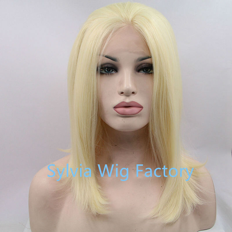 2016NEW style light blonde hair natural straight wigs synthetic lace front wig for women heat resistant fiber<br><br>Aliexpress