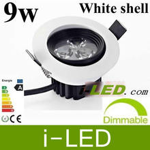 High Power Led Downlight 9W 3x3w LED Recessed Ceiling Down Lamp Downlight Warm Cool White AC85-265V with led driver UL CE