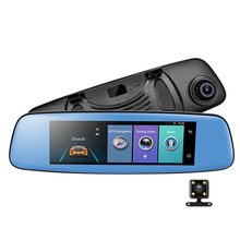 "E06 4G Car DVR 7.84"" Touch ADAS Remote Monitor Rear view mirror with DVR and camera Android Dual lens 1080P WIFI dashcam"