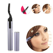 New 1PCS Portable Electric Eyelash Curler Pen Style Heated Long Lasting Makeup Beauty Tools Not Included Battery Free Shipping(China)