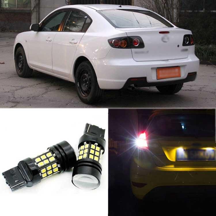 2pcs High Quality Superb Error Free 5050 SMD 360 Degrees LED Backup Reverse light Bulbs T20 For Mazda 3<br>
