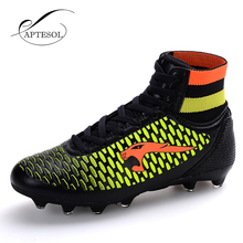 High Ankle Mens Kinds Football Shoes Newest Long Spikes Training Soccer Boots Hard-wearing Soccer Shoes High Top Soccer Cleats