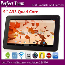Newest  cheap tablet 9 inch tablet pc Allwinner A33 quad core dual camera 512 8G Android 4.4.2 OS