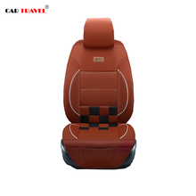 Full Set car seat covers Pu leather Universal fit car seat protect Honda Peugeot Kia Hyundai Renault 4 color car-styling luxury(China)