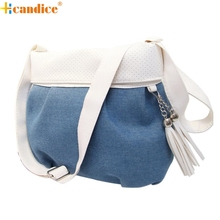 Best Gift Hcandice New Fashion Women Lady Denim Handbag Messenger Hobo Bag Shoulder Bags Tote Purse drop ship bea676
