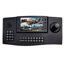 4D Joystick Network PTZ Control Keyboard 7 inch Color Screen LCD CCTV PTZ Keyboard Controller for Onvif IP PTZ Camera