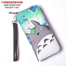 Japan anime My Neighbor Totoro wallet Cosplay Long Leather PU Zipper Purse