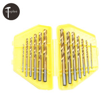 13PCS Metric System Durable Titanium Quick Change Twist Drill Bits Set Tools Drilling With Case