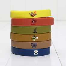 7pcs/Lot Five Nights At Freddy's Silicone Bracelet Wrist Straps FNAF Figure Kids Toys Christmas Gift