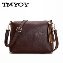 Brand designer women bag soft leather PU bagfringe crossbody bag women messenger bags candy color shoulder bags bolsos BG695