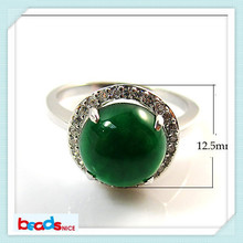 Beadsnice ID26385 silver jewelry wholesale vintage ring of wedding elegant ring with malaysian jade