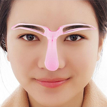 Women's Reusable Eyebrow Stencils Shaping Grooming Eye Brow Make Up Template Random Color