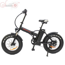 "Free Shipping ConhisMotor 48V 500W Bafang Hub Motor 20"" Mini Folding Fat Tire Electric Bicycle with 48V 12.5AH Lithium Battery"
