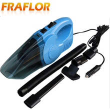 4.5m Cable 120W DC 12v Portable Car Vacuum Cleaner Wet And Dry Dual Use Auto Cigarette Lighter Hepa Filter 12V Blue Orange