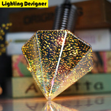 Diamond 3D Edison bulb E27 1.8W light COB globe firework decor holiday light laszer Bar coffee shop Energy saving Lighting Art