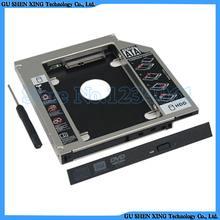 "2.5"" SATA Aluminum 2nd Hard Disk Drive SSD HDD Caddy Adapter bay for HP ENVY 17 17t Series replace CA21N CA30N(China)"