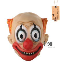 Cute Clown Mask Full Face Big Eye Red Nose Cosplay Masquerade Adult Ghost Mask Halloween Props Costumes Fancy Dress Party Decor
