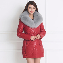 Women Winter PU Thicken Leather Jackets Slim Warm Coats Fur Collar Women Suede Jackets Artificial leather Parkas Warm Outwear(China)