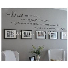 The Best Things In Life Vinyl wall decals ~ Love Memories Wall Quote Home Art Vinyl Decal Sticker ,Free shipping large size new(China)
