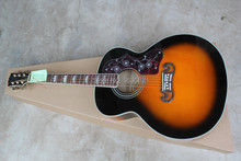 2015 New + Factory + 6 strings J200 acoustic guitar  J200 VS electric acoustic guitar vintage sunset finish Made in China