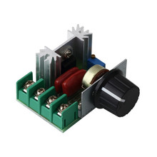 In stock! 2000W 220V AC SCR Electric Voltage Regulator Motor Speed Control Controller Newest Free shipping(China)