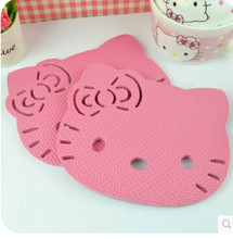 (5 Pcs/Lot) Hello Kitty Kitchen High Temperatures Stand Pot Mat Table Dish Placemat Pads
