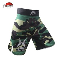 MMA three color camouflage breathable cotton boxing personality training special shorts mma fight shorts muay thai boxing mma