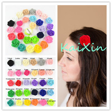100pcs/lot 1.6'' Mini Felt Rose Flower with Clip girl Hairpins Newborn Headwear 30 Color Alternative FC108