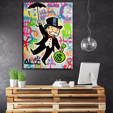 ZZ234 New Fashion travel Alec monopoly Graffiti arts print canvas for wall art oil painting wall painting picture No framed art(China)
