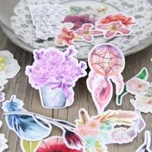 30 шт. красивый акварельный рисунок цветка завод Скрапбукинг Наклейки цветочный растения DIY Craft decorativ Стикеры pack(China)