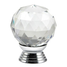 Best Selling 8X Clear Crystal Glass Door Knobs 30mm Drawer Cabinet Handle