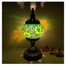 Newest E14 Hand-inlaid glass mosaic bedroom living room decorative Table Lamps of Mediterranean style Turkish Lamps