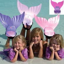 New Kids Children Swimming Fins Training Flipper Mermaid Swim Fin Swimming Foot Flipper Diving Feet Tail Monofin(China)