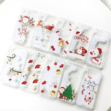 BOOGIC Christmas Phone Case For iPhone 7 8 X 6 6S Plus White Snowflake Quicksand Liquid Clear TPU Cover For iPhone 7 8 6 6S Plus(China)
