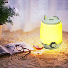 LED Touch Sensor Dimmer Audio Night Light with Music Speaker Portable USB Rechargeable Novelty Atmosphere Lamp For Home Decor(China)