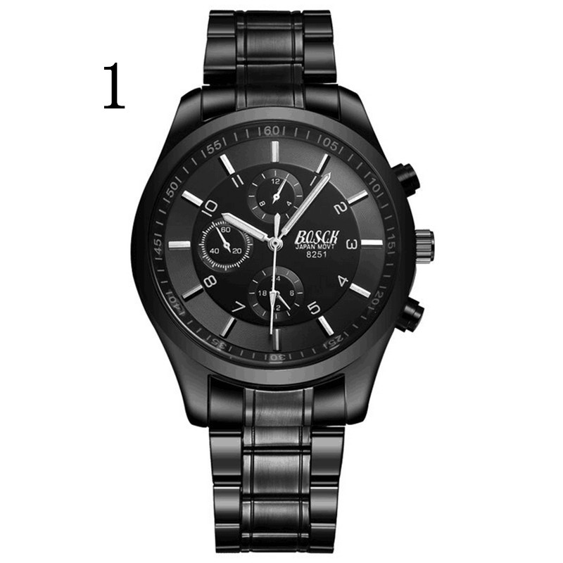 men New Fashion Watch Stainless Steel Unisex Concise Casual Luxury Business Wristwatch<br>