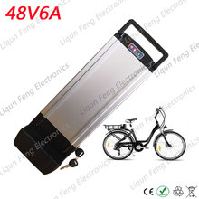 E-bike Moped Battery 48V 6AH Lithium ion Battery 18650 Accumulators BMS Controller 500W Motor Wheel AA batteries Send Charger