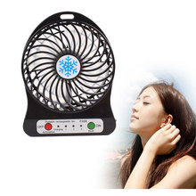 Portable Mini USB Fan LED Rechargeable Desktop Fan Cooling Operated FanWithout battery(China)