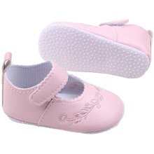 New Kid Girl Pu Leather Princess Crib Shoes Newborn Comfy Outdoor Baby Shoe 0-1 Years 4 Colors