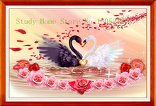2015 New DIY Diamond Painting Swan 100%full Square Drill Home Decor Painting Cross Stitch Mosaic Embroidery Rose Picture AA151