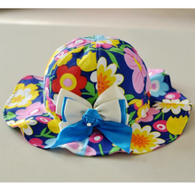 Floral Baby Girls Hat Beautiful Cotton Fitted Sunhat 8-36 Months Children Bucket Hats Baby Girls Clothing Gorros Bebe 2017 Hot