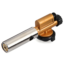 New Electronic Ignition Copper Flame Butane Gas Burners Gun Maker Torch Lighter for Picnic Cooking Welding Camping Equipment(China)